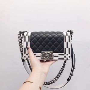 Chanel Small Black and White Boy